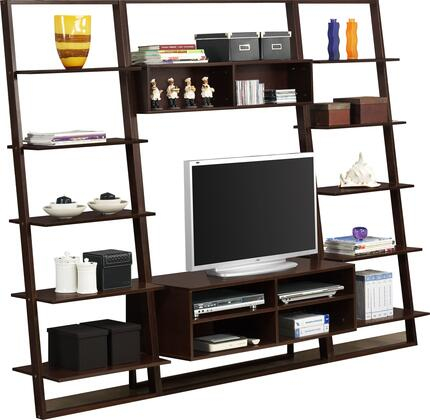 89801 Arlington Entertainment Center And 2 Wall Bookcases  in Dark