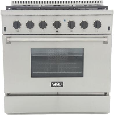 KRG3618U-K 36″ Professional-Class Natural Gas Range with 5.2 cu. ft. Convection Oven  6 Top Burners  Blue Porcelain Interior and High Quality Control