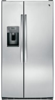 GE  GSS25GSHSS Side-By-Side Refrigerator Stainless Steel, Main Image
