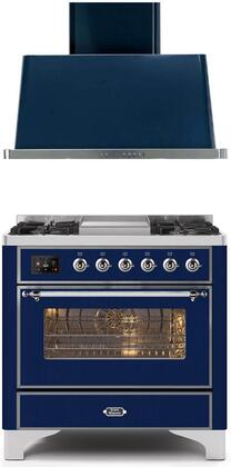 Ilve  1271140 Kitchen Appliance Package Blue, Main image