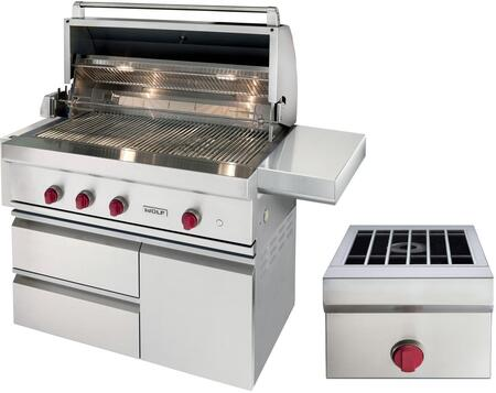 Wolf OGSBCART42 Natural Gas Grill Stainless Steel, OGSBCART42   Copy