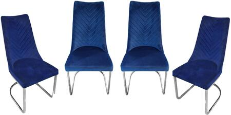 Diamond Sofa Vogue VOGUEDCNV4PK Dining Room Chair Blue, Main View