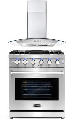Cosmo  COS2PKG072 Kitchen Appliance Package Stainless Steel, COS 2PKG 072