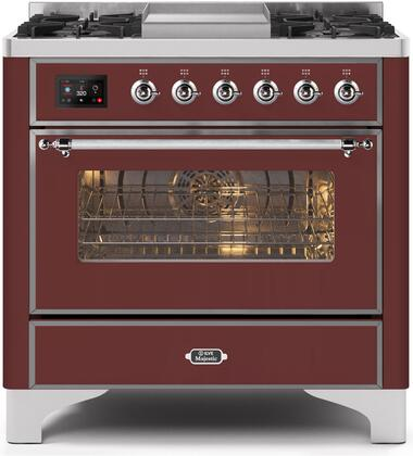 UM09FDNS3BUC 36″ Majestic II Series Dual Fuel Natural Gas Range with 6 Burners and Griddle  3.5 cu. ft. Oven Capacity  TFT Oven Control Display
