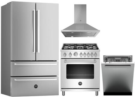 Bertazzoni  1393513 Kitchen Appliance Package Stainless Steel, Main image