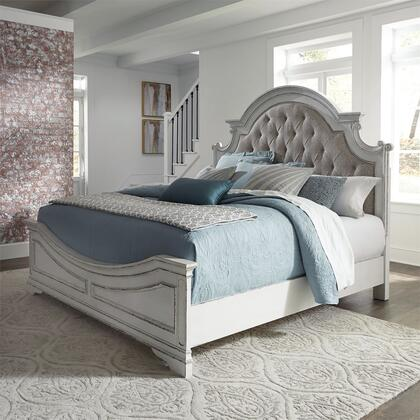 Liberty Furniture Magnolia Manor 244BRQUB Bed White, 244 br qub