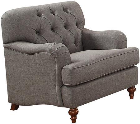 Acme Furniture Alianza 53692 Living Room Chair Gray, 1