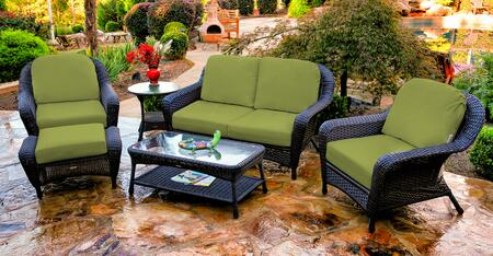 Tortuga Sea Pines FN21500TKIWI Outdoor Patio Set Brown, FN21500TKIWI Main Image