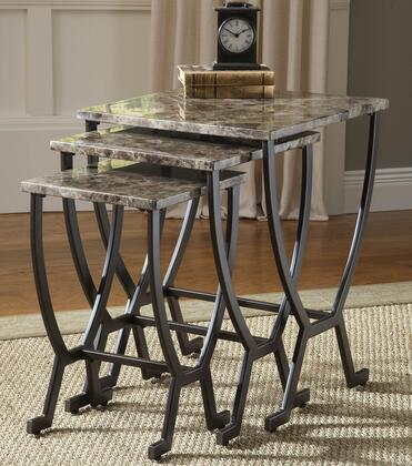 Hillsdale Furniture Monaco 4142888S Nesting Table Brown, 1