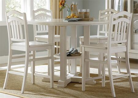 Liberty Furniture Summer Hills 518CD5GTS Dining Room Set White, Main Image