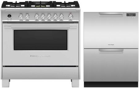 Fisher Paykel  1171964 Kitchen Appliance Package Stainless Steel, main image