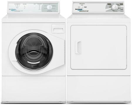 Speed Queen  963509 Washer & Dryer Set White, 1
