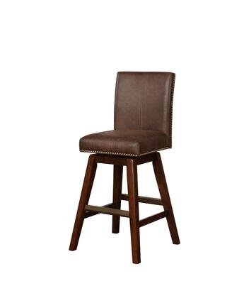 Linon Cedar BS026SBL01U Bar Stool, BS026SBL01U Cedar Wood Swivel Bar Stool