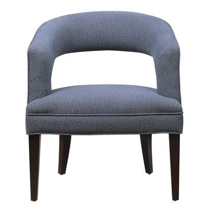 156-DSA464-093-552 Upholstered Mid-Century Modern Accent Chair in Steel