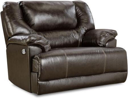 "Bingo 50451BR-195 51"""" Cuddler Recliner with Split Back Cushion and Plush Padded Arms in -  Lane Furniture, 50451BR-195 Bingo Brown"