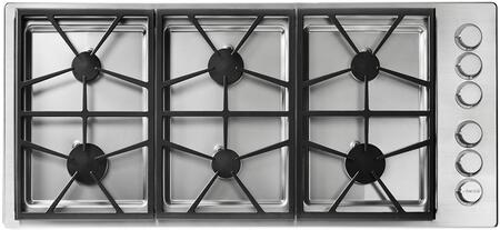 """Dacor Professional HPCT466GSNGH Gas Cooktop Stainless Steel, HPCT466GSNGH 46"""" High Altitude Natural Gas Cooktop"""