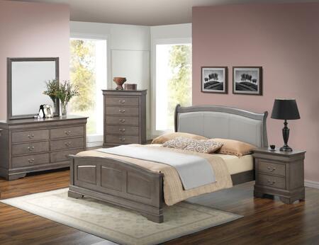 Glory Furniture G3105 G3105CFB2BDMNC Bedroom Set Gray, Main View
