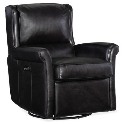 Hooker Furniture RC Series RC443SW097 Recliner Chair Black, Silo Image