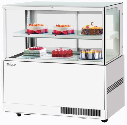 Turbo Air TBP3646FNW Display and Merchandising Refrigerator White, TBP3646FNW Angled View