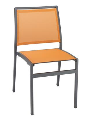 """5724 Collection AL-5724S-P-ACT 19"""" Patio Chair with Sling Seat & Back and High Backrest in Anthracite Citrus"""