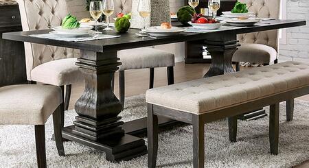 Furniture of America Nerissa CM3840TTABLE Dining Room Table Black, CM3840TTABLE Main Image