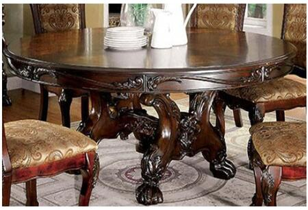 Furniture of America Medieve CM3557CHRTTABLE Dining Room Table Brown, Main Image