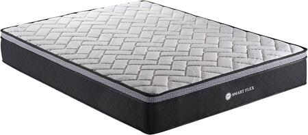 VP100 Collection VP1006 10″ King Size Pocket Spring Mattress with Memory Foam Plush Euro Top  Non Skid Base  Individual Wrapped Pocket Spring and