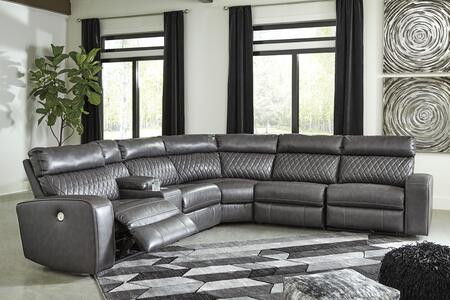 Signature Design by Ashley Samperstone 55203585719774662 Sectional Sofa Gray, Main Image