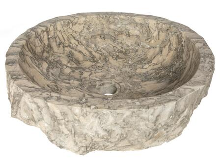 EB_S051GR-P Rustic Grigio Marble Sink with Rough Exterior – Polished