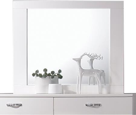 Acme Furniture Naima II 26774 Mirror White, Front View