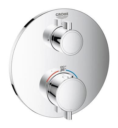 Grohtherm 24107000 Single Function 2-Handle Thermostatic Trim  in