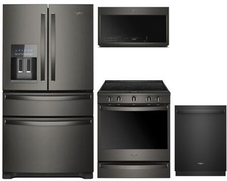 Whirlpool  902577 Kitchen Appliance Package Black Stainless Steel, 1