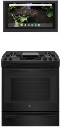 GE 1077277 Kitchen Appliance Package & Bundle Black, main image