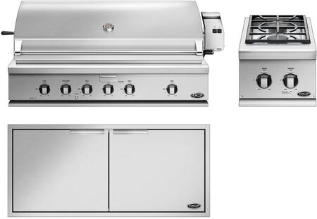 3 Piece Outdoor Kitchen Equipment Packages with BH148RL 48″ Built-In Liquid Propane Grill  BGC132BIL 15″ Liquid Propane Double Sealed Side Burner and