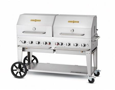 Crown Verity CVMCB60SIBULKRDP Commercial Outdoor Grill Stainless Steel, CVMCB60SIBULKRDP Side View