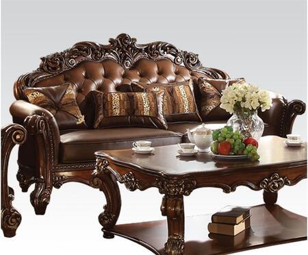 Acme Furniture Vendome 52001 Stationary Sofa Brown, Sofa