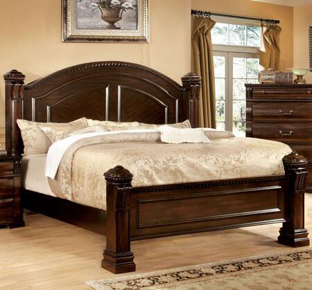 Furniture of America Burleigh CM7791EKBED Bed Brown, Main Image