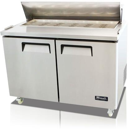 """C-SP48-18BT-HC 48"""" Competitor Series Mega Top Sandwich Prep Table with 18 (1/6 Size) Pan Capacity Stainless Steel Construction and 9.25"""" Cutting"""
