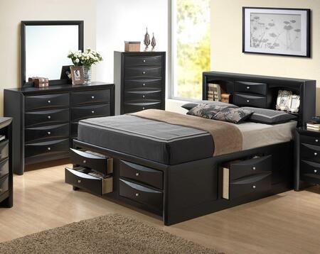 Glory Furniture G1500G G1500GTSB3DM Bedroom Set Black, Main Image
