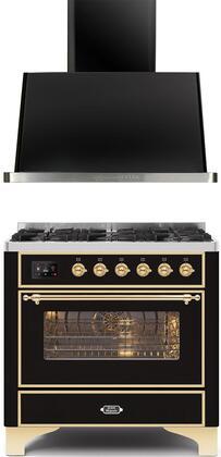 Ilve  1260310 Kitchen Appliance Package Black, main image