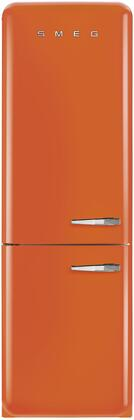 Smeg 50s Retro Style FAB32UORLN Bottom Freezer Refrigerator Orange, Front View