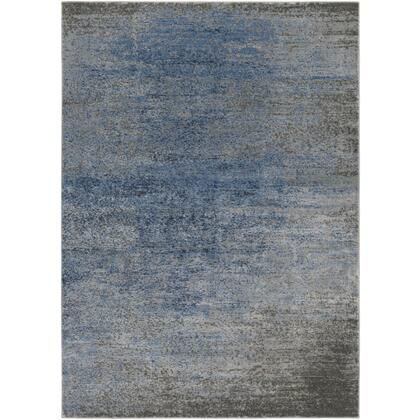 Amadeo ADO-1010 6'7″ x 9'2″ Rectangle Modern Rugs in Denim  Light Gray  Medium Gray  Dark Brown
