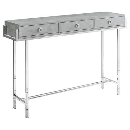I 3298 Accent Table – 48″L / Grey Cement / Chrome