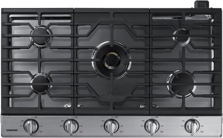 """Samsung NA36N7755TS 36"""" Stainless Steel Gas Cooktop"""