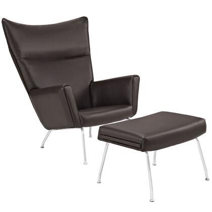 Modway Class EEI287DBR Living Room Chair Brown, Brown
