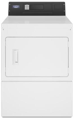 Maytag MDG20PRAWW 27 Commercial Gas Dryer with 7.4 cu. ft. Capacity, Intelligent Controls with M-Series Technology, Four Roller Suspension