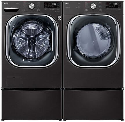 LG  1289207 Washer & Dryer Set Black, 1