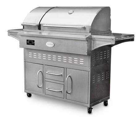 Louisiana Grills LG860C 44  Freestanding Wood Pellet Grill with 860 sq. in. Cooking Surface  Digital Control Center  48 000 BTU Heat Output  and Stainless Steel