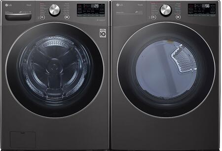 LG  1289214 Washer & Dryer Set Black, 1