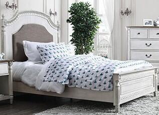Furniture of America Hesperia CM7441BED Bed White, 1
